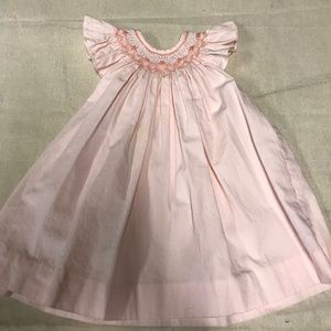Sophie Dess Newborn Smocked Dress